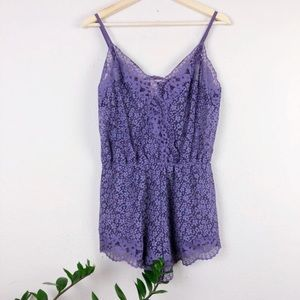 Victoria's Secret Lavender Lace Romper